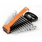 Комбинированный рожковый ключ, с изгибом